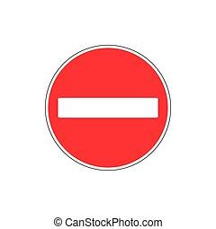 No entry sign. Vector illustration, flat design.