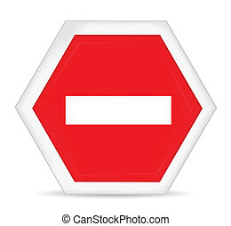 No entry stop hand sign