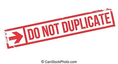 no, estampilla, duplicado