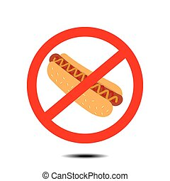 no hot dog - no fast food no hot dog - vector