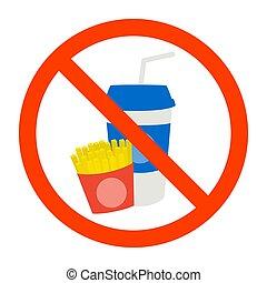 No fast food sign