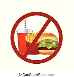 No fast food sign