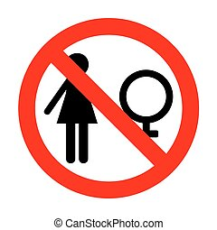 No Female sign illustration.