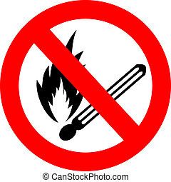 No fire vector sign