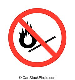 No fire vector sign on white background