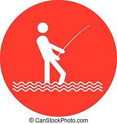 no fishing sign button