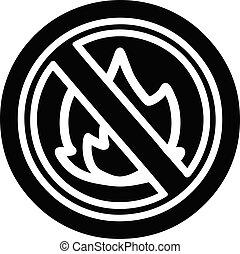 no flames icon symbol