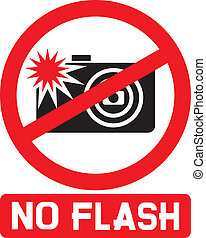 no flash sign