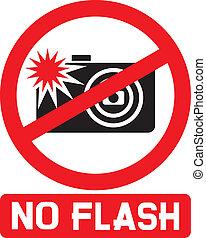 no flash sign, no flash photo icon, no photography with ...