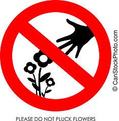 no, flores, desplumar
