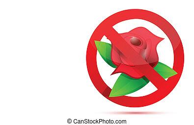 no flowers illustration design