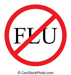 "No Flu Graphic - A red and black ""no flu\"" graphic with a..."