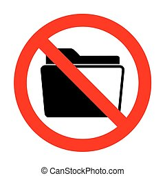 No Folder sign illustration.