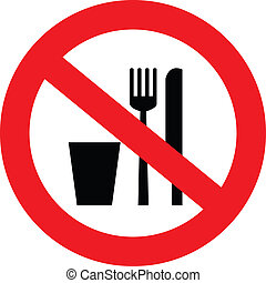 no food and drink sign - a sign showing no food and drink...