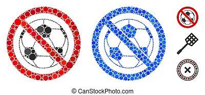 No Football Mosaic Icon of Circle Dots