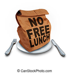 No Free Lunch business concept as a financial entitlement ...