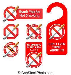 no fumar, señales