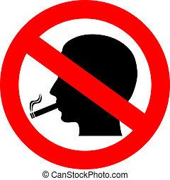 no fumar, vector, señal
