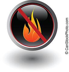 no, fuoco, segno