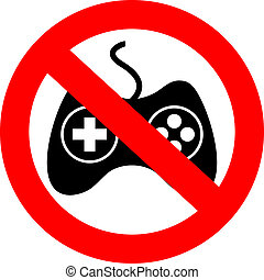 No gaming sign - No gaming vector sign
