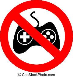 No gaming sign - No gaming vector sign