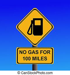 no, gas, para, 100, millas, señal