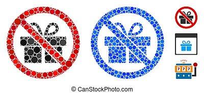 No Gifts Mosaic Icon of Circle Dots