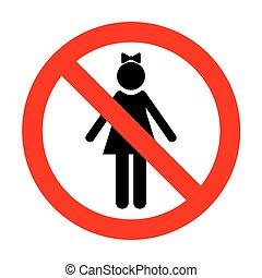 No Girl sign illustration.