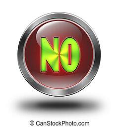 NO glossy icon - aluminum, steel, chromium, glossy, icon,...