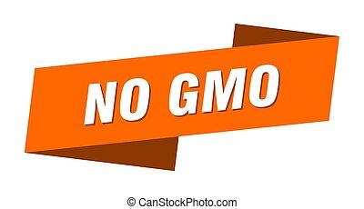 no gmo banner template. ribbon label sign. sticker