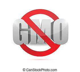 no gmo sign illustration design