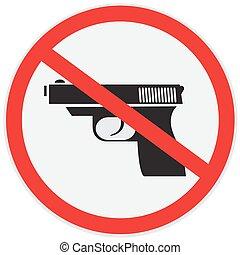 No gun allowed sign