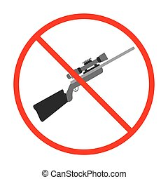 No Gun Sign and Symbol. Weapon prohibited icon. Vector illustration.