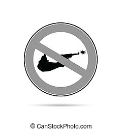 no gun sign blac and white illustration