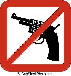 No gun sign