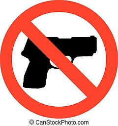no gun sign - isolated illustration