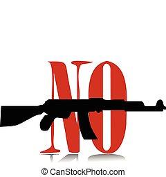 no gun - vector