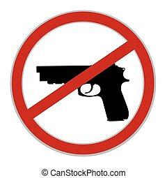 No guns allowed sign