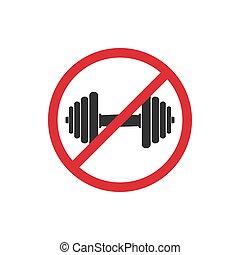 No GYM. Prohibition sign for quarantine. Public access restriction