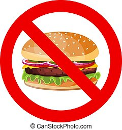 No hamburger allowed sign.