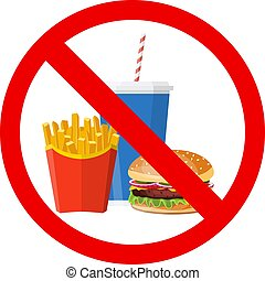 No hamburger, french fries