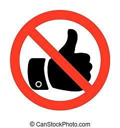 No Hand sign illustration.