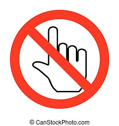 No Hand sign illustration.