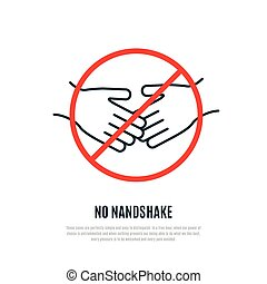 No Handshake warning sign.