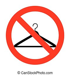 No Hanger sign illustration.