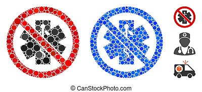 No Healthcare Mosaic Icon of Circle Dots