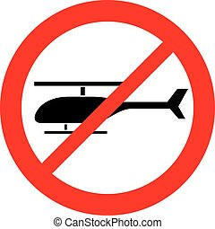 no helicopter sign (prohibition icon)