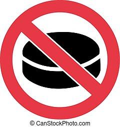 No Hockey - Ban Sign