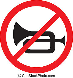 no horn traffic sign