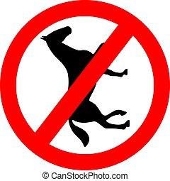 No horses vector sign